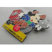 Buy NBC Camera Crew Disney Pin Badge by Zinc Alloy, Synthetic Enamel, Black Nickel, Glitter Filled at wholesale prices