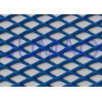 Quality Perforated Architectural Expanded Metal , Blue / Red Steel Expanded Metal Mesh for sale