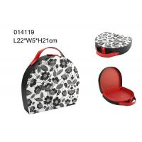 Quality Portable Packing Mini Round Travel Jewelry Case , Jewelry Travel Cases Storage Box for sale