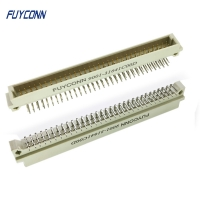 Quality 2.54mm 2 Rows PCB Right Angle 2*32P 64 Pin Male 41612 Euro Connector for sale