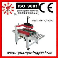 Quality Semi Automatic Side Drive Adhesive Tape Machine for Carton Box Packing for sale