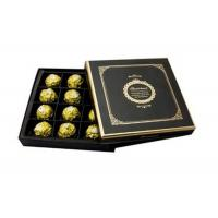 Quality Classical Black Recycled Cardboard Gift Boxes packaging Chocolate for sale