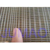 Buy cheap 2000mm Width Glass Laminated Brass Woven Metal Wire Mesh Fabric For Art Design from wholesalers