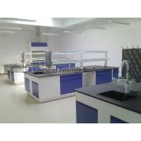 Quality Educational Steel Laboratory Furniture , Chemical Resistant Lab Tables For Schools for sale
