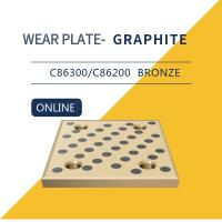 Quality Wear Strip Ways Plain Bearing Solid Bronze Graphite Plugs Drilled & Counterbored Holes for sale
