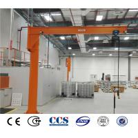 Quality Electric Chain Hoist 360 Degree Rotating Luffing Floor Column Mounted Jib Crane For Sale for sale
