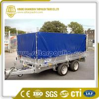 Quality Tough Black Tarpaulin Trailer Cover for sale