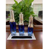 Quality 15ml 30ml 50ml cosmetic essential oil glass square bottle  coating change blue color  dropper bottle liquid for sale