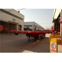 Buy 3 Axle Steel Flatbed Semi Trailer For Shipping 40ft Container Transport at wholesale prices
