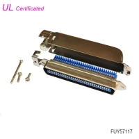 Quality Amphenol 2.16mm Pitch 64 Pin Male Centronic IDC connector with Side Entry metal cover for sale