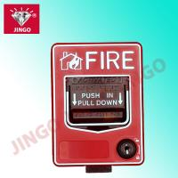 Quality Conventional fire alarm 24V 2 wire manual call point key reset break glass for sale