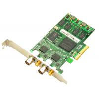 Quality 3G/HD/SD SDI Video Capture Card with loop output, 2 ports PCI-Express 1080p/60hz for sale