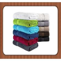 Quality High quality natural colored 100% organic cotton fabric plain dyed face towel for sale