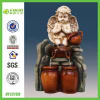 China Religious Tabletop Angel Water Fountain Indoor on sale