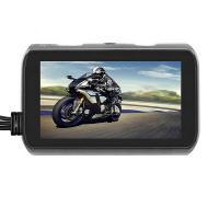 Quality 720P Motorcycle Dashcam Recorder dual lens dvr camera with remote controller for sale