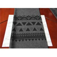 Buy Located 50% Wool Jacquard Scarf Fabric Gray And Black 150 Cm Width ISO9001 at wholesale prices