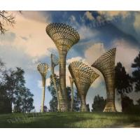 China Large Park Decorative Outdoor Metal Art Sculpture With Abstract Hollow Modern Design on sale