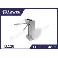 Commercial Access Control Waist High Turnstile Semi - Auto Waterproof Stable