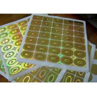 China Round Circle Security Hologram Sticker Permanent Adhesive Waterproof on sale