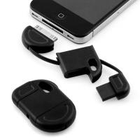 China Brand New Fun & Discreet Keyring USB Sync and Charge data cable for iPhone iPod iPad black on sale