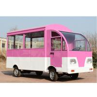 China Stainless Steel Mobile Food Cart Mobile Hot Dog Cart Integral Frame Construction on sale