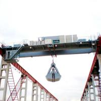 Quality 20 Ton 10 Ton  Double Beam Garbage Crane Electric Winch Cart For Bulk Cargo for sale