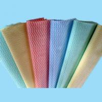Quality cross lapping spunlace non woven fabric for household/kitchen cleaning wipes for sale