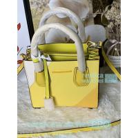 Buy New Knockoff Michael Kors Mercer Yellow Genuine Leather Women's Bag at wholesale prices