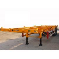 Buy Skeleton 40 ft Shipping Container Trailer With 2 Axle , ISO Container Carrier Trailer at wholesale prices