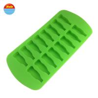 China Water Bottle Shape Silicone Ice Trays For Ice Pudding / Biscuit Cake on sale