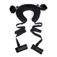 China Plush Neck Harness Bondage Starter Kit with Handcuffs and Ankle Cuffs Made of Ribbon on sale