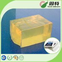 Quality Yellowish and semi-transparent Block Hot Melt Pressure Sensitive Glue Adhesive for Poker&CardBox Making WithHigh Quality for sale
