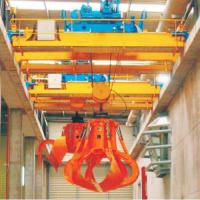Quality Double Girder Overhead Crane With Grab Bucket Mobile Brick 16T Bulk Material for sale
