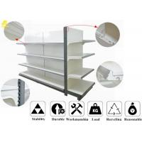 Quality Customized Size Supermarket Metal Shelving , 4 Layer Metal Gondola Shelving for sale