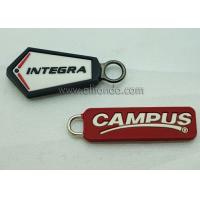 Quality Wholesale Custom Embossed Name Logo Eco Friendly Soft Plastic Rubber PVC Zipper Pullers for Jackets for sale