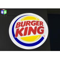 Quality Burger King Outdoor Lighted Box Signs Backlit , Round Outdoor Lightbox Signs for sale