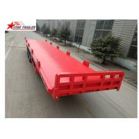 Quality 13 Meters 3 Axles Commercial Flatbed Trailer With Dual Line Brake System for sale