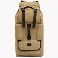 Quality 110 Liters Super Large Capacity Thick Canvas Long Distance Travel Hiking Backpack for sale