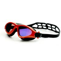Fashionable Swimming Goggles Red Color , Waterproof Swim Goggles With UV Shield