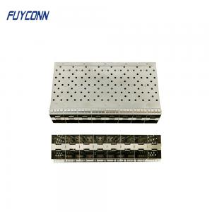 Quality Female 2*8 16 Ports 320pin Press Pin SFP Cage Assembly for sale