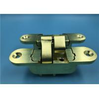 China Satin Brass Finish Heavy Duty Cabinet Door Hinges / Invisible Door Hinges on sale