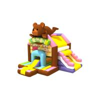 Buy cheap Popular inflatable brown bear jumping house PVC inflatable fat bear bouncy with from wholesalers