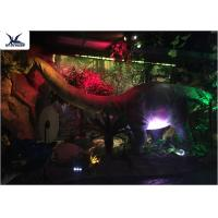 Quality Full Size Garden Statues Moving Dinosaur Models With Light , Realistic Raptor Dinosaur  for sale