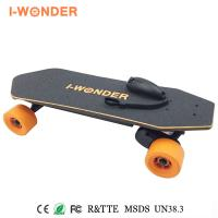 Quality Portable RC Bamboo Longboard Electric Skateboard 1200w 8.8AH 24V FCC Certified for sale