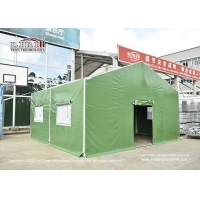 Quality Green Pvc Cover Movable Aluminum Hospital Emergency Medical Tents for sale