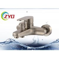 Quality Steel Bathroom Plumbing Accessories Level Handle Wall Mount Tub Faucet for sale