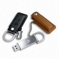 Quality 2GB, 4GB, 8GB , 16GB OEM Leather USB Flash Drive AT-030H with logo printing for sale