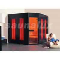 Quality 4 Person Corner Traditional Saunas Room with Tempered Glass Door for sale