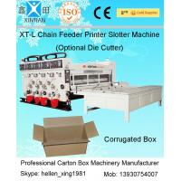 4KW Semi Auto Flexo Printing Slotting Machine With Gear Pump / Grinded Surface
