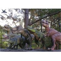 Quality Attractive Robotic Life Size Dinosaur Statues With Dinosaur Alive Roaring Sound for sale